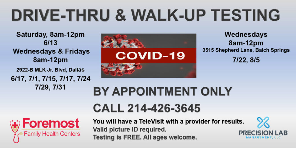 COVID-19 Drive-Thru & Walk-Up Testing